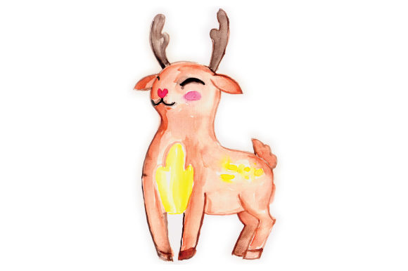 Download Free Woodland Animal Watercolor Deer Svg Cut File By Creative Fabrica for Cricut Explore, Silhouette and other cutting machines.