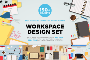 Workspace Design Set Graphic By Creative Fabrica Fonts