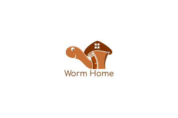 Print on Demand: Worm Home Logos Graphic Logos By mozyenstudio