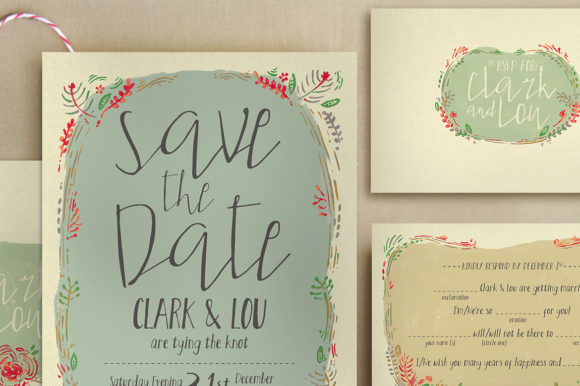 Download Free Wreath Illustration Wedding Invitation Graphic By Blue Robin for Cricut Explore, Silhouette and other cutting machines.