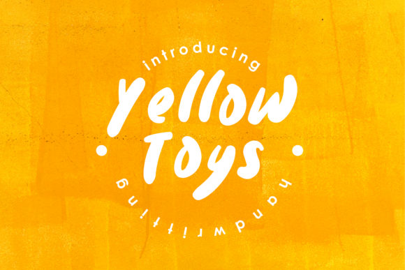 Print on Demand: Yellow Toys Script & Handwritten Font By Fype Co.