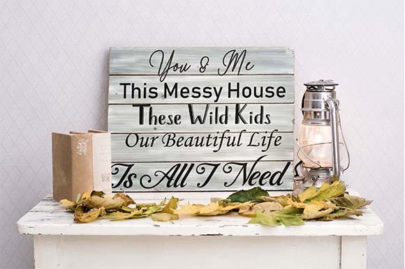 You and Me, Our Beautiful Life, Messy House Svg
