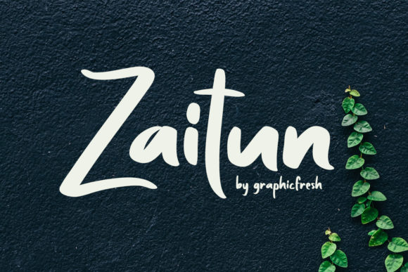 Print on Demand: Zaitun Sans Serif Font By Sameeh Media