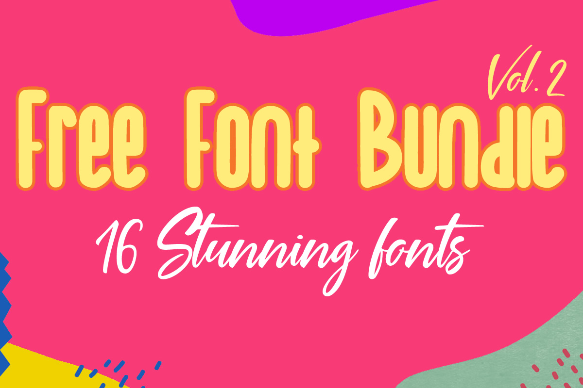 Download Free Free Font Bundle 2019 Vol 2 Bundle Creative Fabrica for Cricut Explore, Silhouette and other cutting machines.