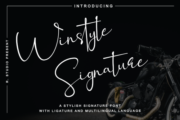 Winstyle Signature Script & Handwritten Font By R. Studio