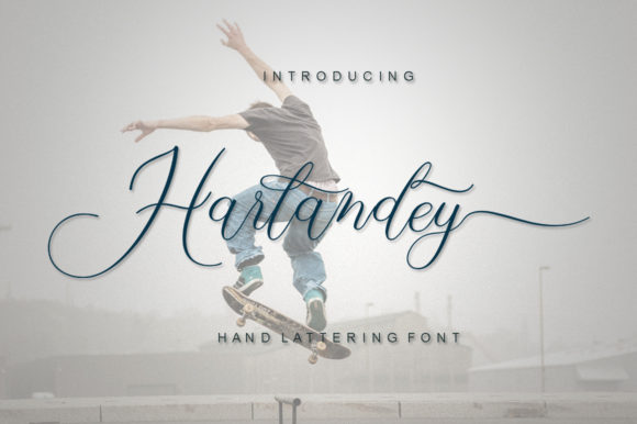 Print on Demand: Harlandey Script & Handwritten Font By IM Studio