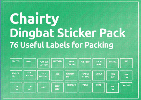 Print on Demand: 70 Print Ready Charity Stamps Labels Graphic Print Templates By GraphicsBam Fonts