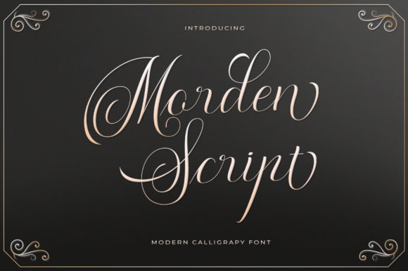 Print on Demand: Morden Script Script & Handwritten Font By Max.co