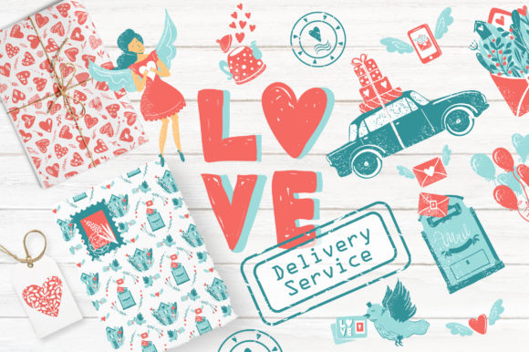 Print on Demand: Love - Delivery Service Graphic Illustrations By KatiaZhe