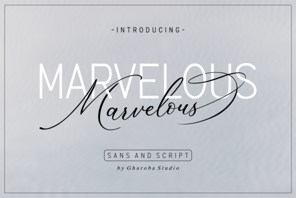 Print on Demand: Marvelous Duo Script & Handwritten Font By Ghuroba Studio