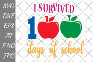 Download Free 100th Day Of School Svg Grafico Por Prettydesignstudio for Cricut Explore, Silhouette and other cutting machines.