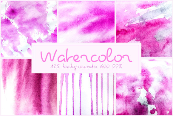 125 Watercolor Backgrounds Textures Overlays Graphic Layer Styles By 2SUNSoverlays - Image 2