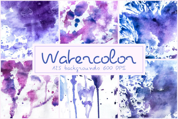 125 Watercolor Backgrounds Textures Overlays Graphic Layer Styles By 2SUNSoverlays