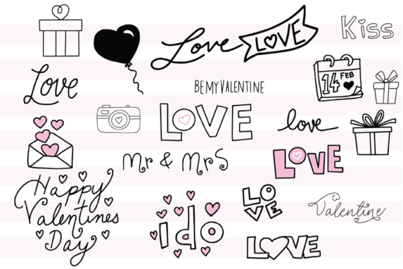 147 Valentines Doodles Graphic Illustrations By carrtoonz - Image 3
