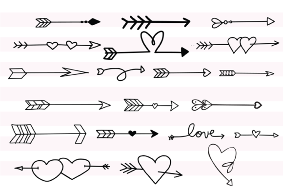 147 Valentines Doodles Graphic Illustrations By carrtoonz - Image 4