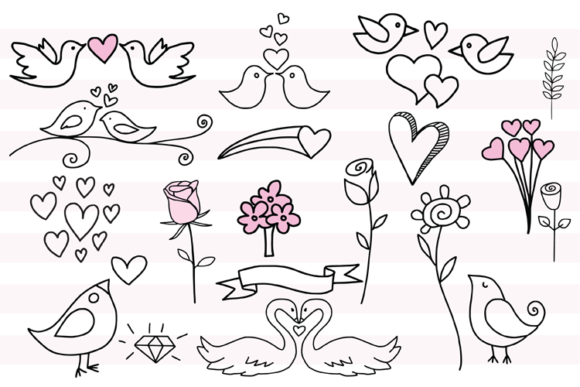 147 Valentines Doodles Graphic Illustrations By carrtoonz - Image 5