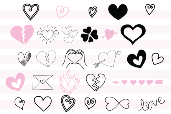 147 Valentines Doodles Graphic Illustrations By carrtoonz - Image 6