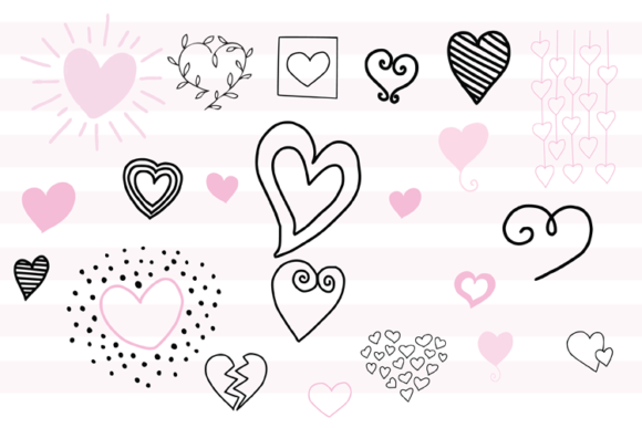 147 Valentines Doodles Graphic Illustrations By carrtoonz - Image 7