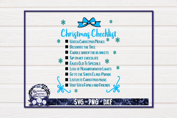Download Free Christmas Checklist Graphic By Kayla Griffin Creative Fabrica for Cricut Explore, Silhouette and other cutting machines.
