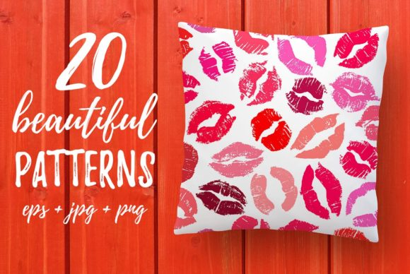 20 Lipstick Patterns Graphic Patterns By Anastasiia Macaluso