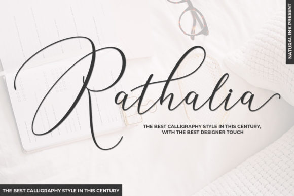 Print on Demand: Rathalia Script & Handwritten Font By Natural Ink
