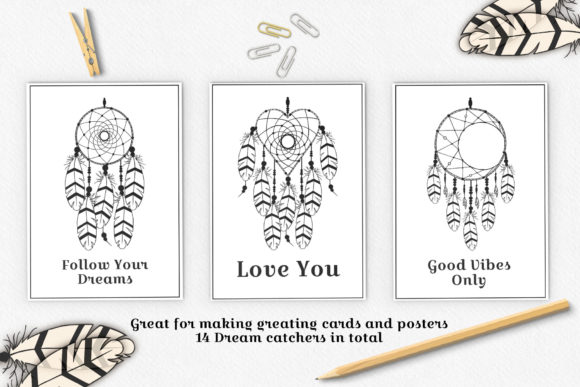 Download Free Dream Catcher Designs Graphic By Kirill S Workshop Creative for Cricut Explore, Silhouette and other cutting machines.