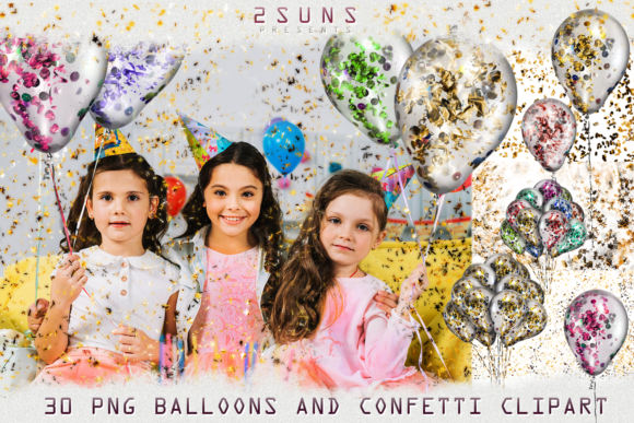 30 Air Balloons Ballon Photo Overlays Graphic Layer Styles By 2SUNS