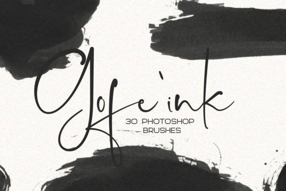 30 Gofe Ink Photoshop Brushes Graphic By Sameeh Media