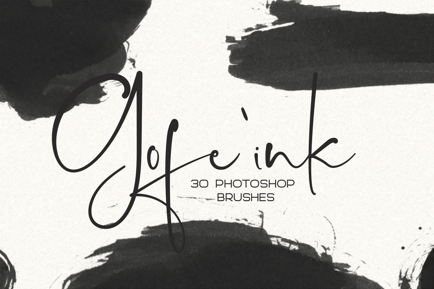 Download Free 30 Gofe Ink Photoshop Brushes Graphic By Sameeh Media Creative for Cricut Explore, Silhouette and other cutting machines.