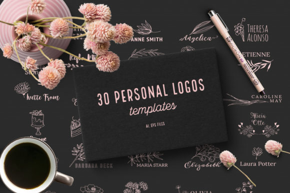 Print on Demand: 30 Personal Logos Graphic Logos By webvilla - Image 1