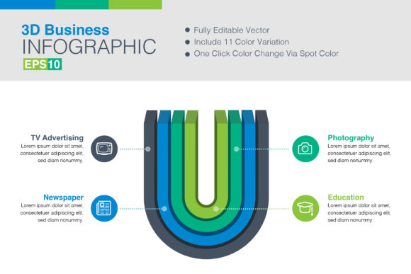 Print on Demand: 3D Vector Infographic Graphic Infographics By ContestDesign