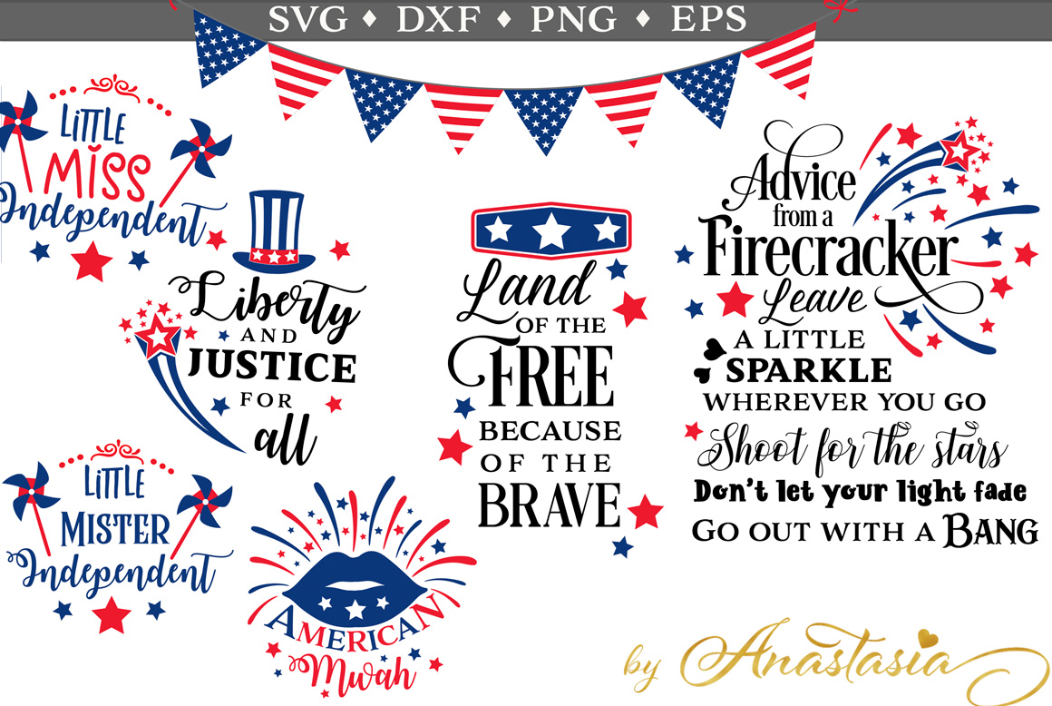 4th Of July Bundle Graphic By Nerd Mama Cut Files Creative Fabrica