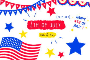 4th of July USA Clip Art Graphic By Inkclouddesign