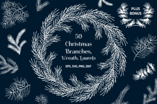 50 Hand Drawn Christmas Branches Graphic By Kirill's Workshop