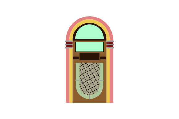 Download Free 50s And 60s Jukebox Svg Cut File By Creative Fabrica Crafts for Cricut Explore, Silhouette and other cutting machines.