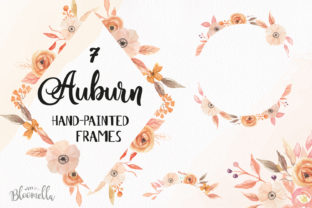 7 Watercolour Auburn Autumn Leaf Graphic By Bloomella