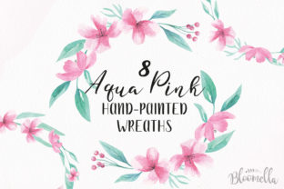 8 Watercolour Aqua Pink Graphic By Bloomella