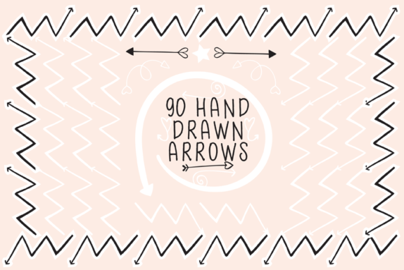 90 Hand Drawn Arrows Graphic Illustrations By carrtoonz
