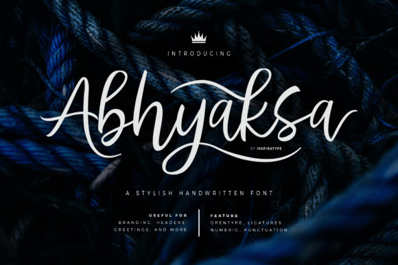 Print on Demand: Abhyaksa Script & Handwritten Font By InspiraType