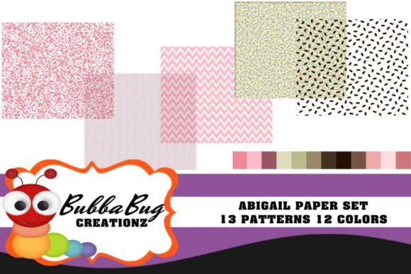 Abigail Paper Set Graphic Patterns By BUBBABUG