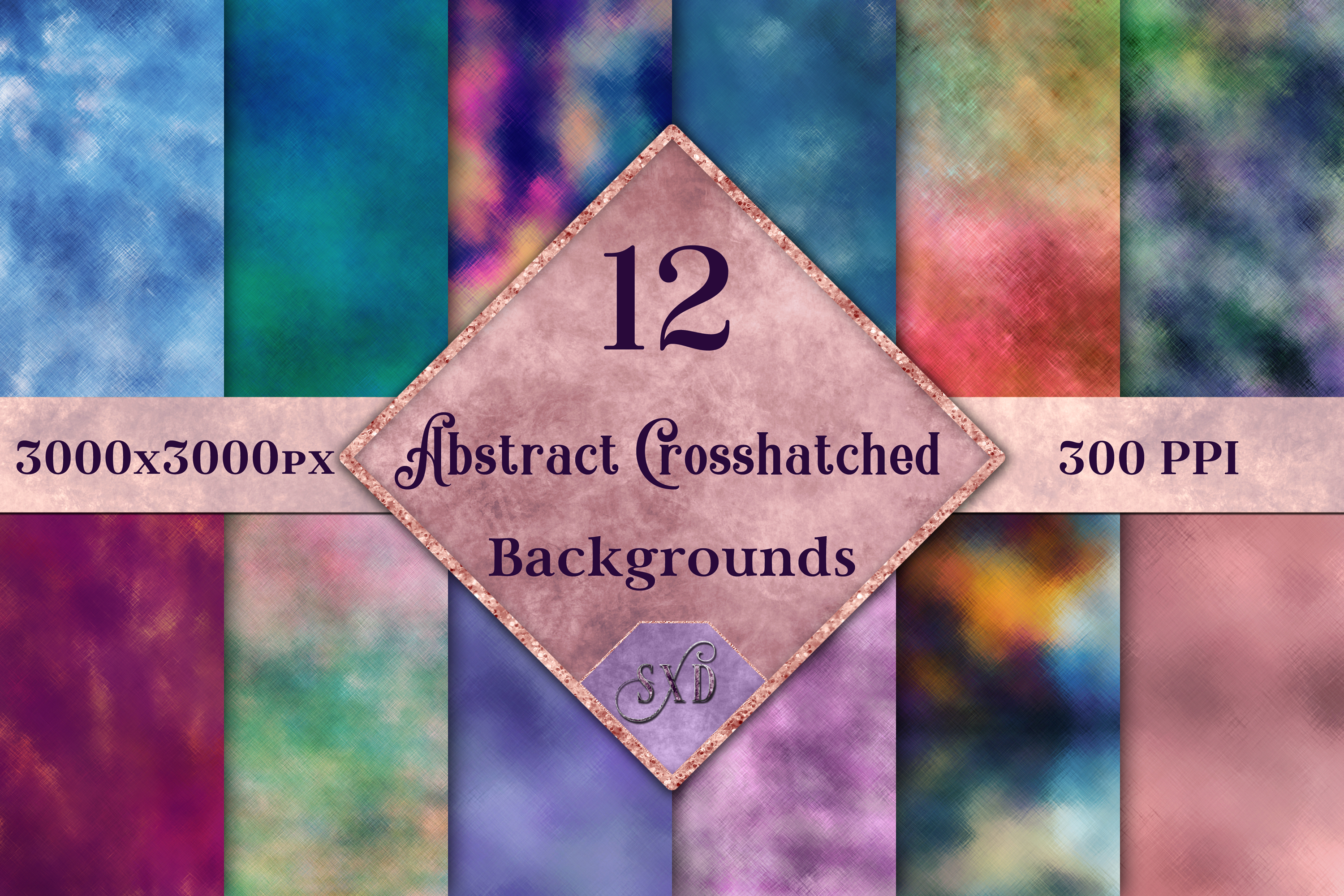 Download Free Abstract Crosshatched Backgrounds 12 Image Set Graphic By Sapphirexdesigns Creative Fabrica for Cricut Explore, Silhouette and other cutting machines.
