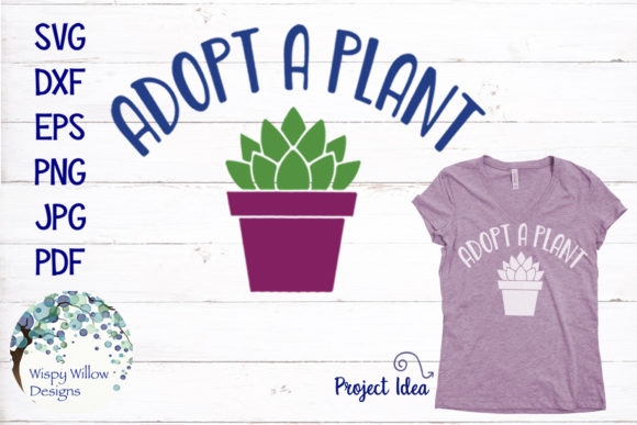 Adopt a Plant SVG Graphic By WispyWillowDesigns Image 1