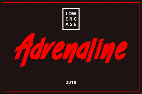 Print on Demand: Adrenaline Display Font By Musafir LAB
