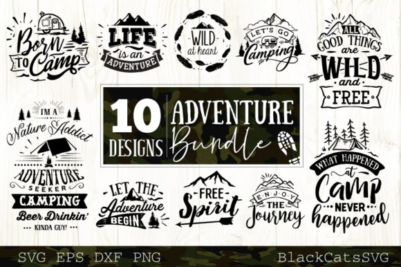 Print on Demand: Adventure Bundle Graphic Crafts By BlackCatsMedia