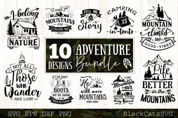 Adventure Bundle Graphic Crafts By BlackCatsMedia