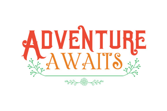 Print on Demand: Adventure Awaits Quote SVG Cut Graphic Crafts By TheLucky
