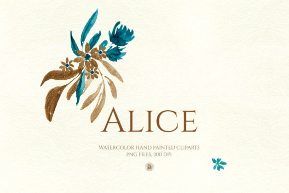 Print on Demand: Alice - Watercolor Flowers Graphic Illustrations By webvilla - Image 3