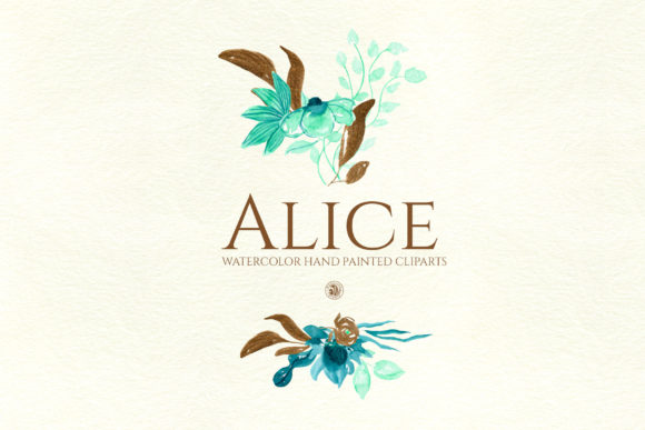 Print on Demand: Alice - Watercolor Flowers Graphic Illustrations By webvilla - Image 4