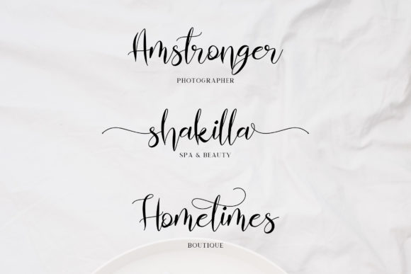 Print on Demand: Almahira Script Script & Handwritten Font By rometheme - Image 4