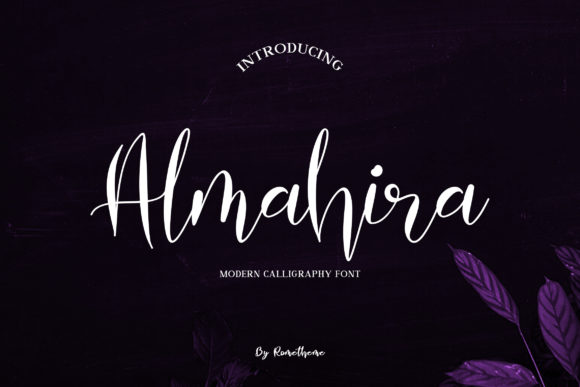 Print on Demand: Almahira Script Script & Handwritten Font By rometheme